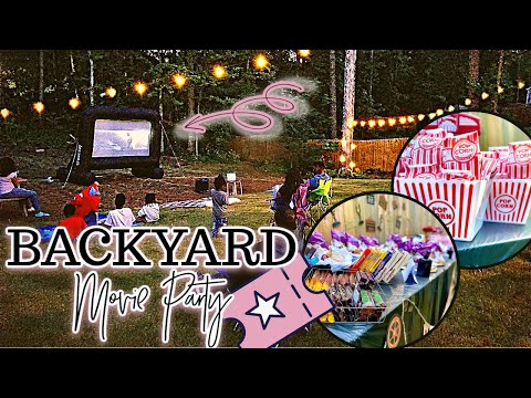 Hosting a Backyard Movie Theater Party!   Fall Lawn Games   Outdoor Fall Activities At Home