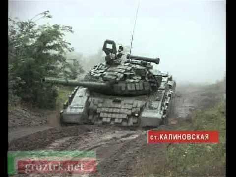 Военные учения в станице Калиновская - видео-репортаж