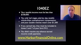 1040 ez Tax Form Instructions 2012, 2013