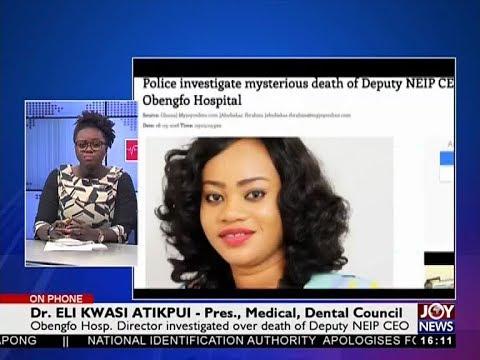 Deputy NEIP CEO's Death - The Pulse on JoyNews (29-5-18)