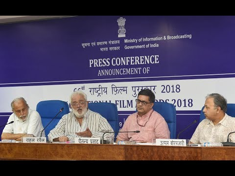 Press Conference by Chairmen of Jury to announce National Film Awards