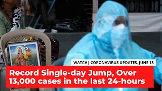 With 13,000 New Cases; India Records Highest Single-Day Spike, Over 12,000 Fatalities Reported