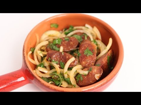 Grilled Chorizo with Onion & Lime Recipe – Laura Vitale – Laura in the Kitchen Episode 699