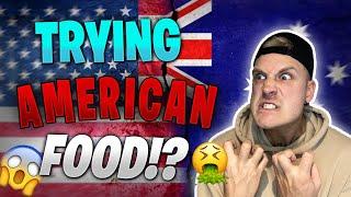 AUSTRALIAN TRYING AMERICAN FOOD!!! (JOELBERGS)