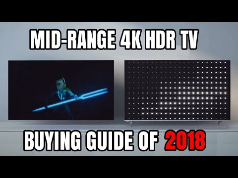 BEST MID-RANGE 4K TV BUYING GUIDE 2018 + MONITORS ($600- $1300dlls)
