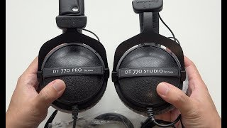 Beyerdynamic DT 770 Studio vs DT 770 Pro Headphones - What are the Differences?