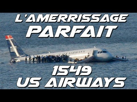 L'amerrissage PARFAIT du vol 1549 US AIRWAYS !