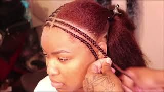 Layer Braids on long hair!! #braidstyles #spetrabraid