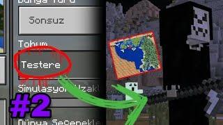 GECE 2'DE TUZAKLI HARİTA VERDİ!! TESTERE (Minecraft PE Seed)