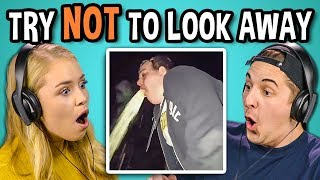 COLLEGE KIDS REACT TO TRY NOT TO LOOK AWAY CHALLENGE #2 (Biggest Fears)