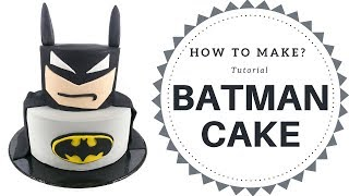 How To Make A Batman Cake (3 Mins)  | Irmas Fondant Cakes