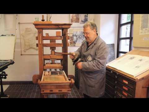 Gutenberg Druckpresse - Alpirsbacher Offizin