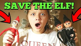 WE SAVED ELF ON THE SHELF FROM MEAN ELF TWINS! Candy Cane Elf Is Back With Early Christmas Presents