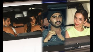 Sidharth Malhotra With Kiara Advani, Arjun Kapoor With Malaika Arora Khan Snapped At Birthday Bash