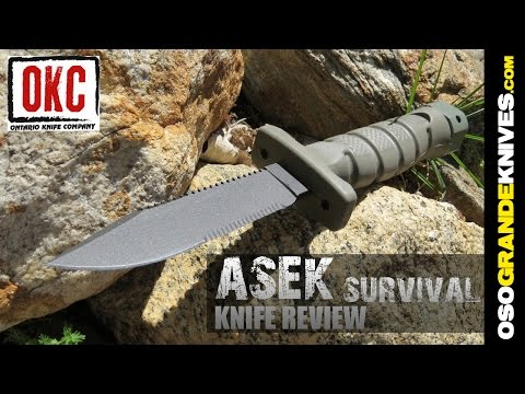 Ontario ASEK US Army Survival Knife System Review | OsoGrandeKnives