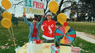 We Made A Lemonade Stand & Gave Away All The Profits