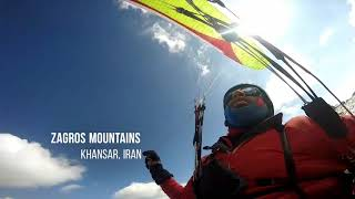 preview picture of video 'Flight over spectacular Zagros mountain range'