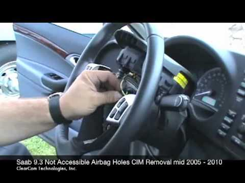 Saab Not Accessible Airbag CIM Removal  2005-2010.mov