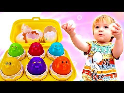 Дада игрушки - Бьянка и Разноцветные цыплята - Учим цвета.