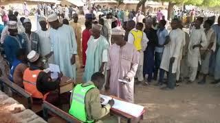 Yayın da ake gudanar da zabe a sansanin 'yan gudun hijira a Gandi, jihar Sokoto