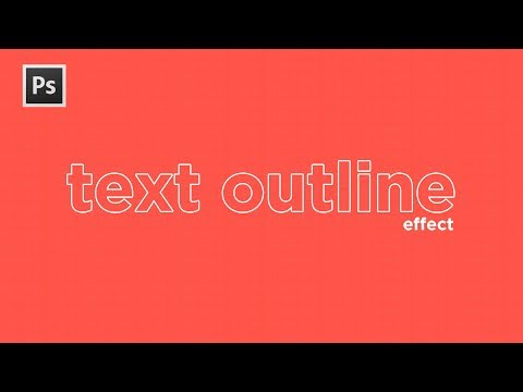 Photoshop CC Tutorial: How to Create Outline Text in