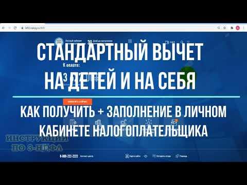 Вычет на детей и стандартный вычет на себя в личном кабинете: заполнение декларации 3-НДФЛ