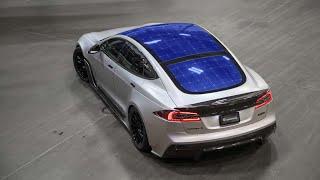 Solar Panels on a Tesla