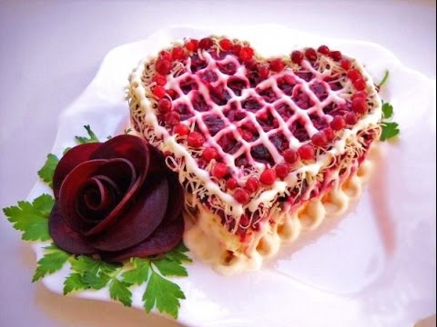 На день Св. Валентина. Салаты. Закуски. Как красиво украсить. What to do on Valentine#39;s Day   Snacks