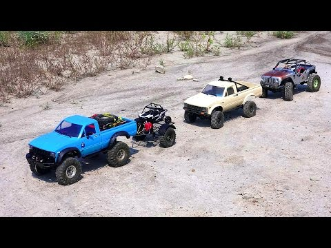 RC ADVENTURES - Three 4x4 Trucks Explore An Ancient Wasteland
