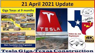 Tesla Gigafactory Texas 21 April 2021 Cyber Truck & Model Y Factory Construction Update (07:45AM)
