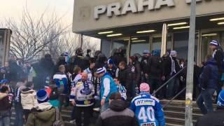 Sparta - Kometa -příjezd fans Brna Kometa Express