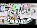 DIY DESK DECOR & ORGANIZATION IDEAS! | BLOOM DAILY PLANNERS REVIEW!