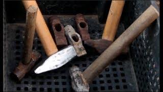 Как быстро насадить молоток на буковую рукоять | Hammer restoration