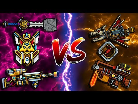 Universe Champion Set VS Gladiator Set - Pixel Gun 3D
