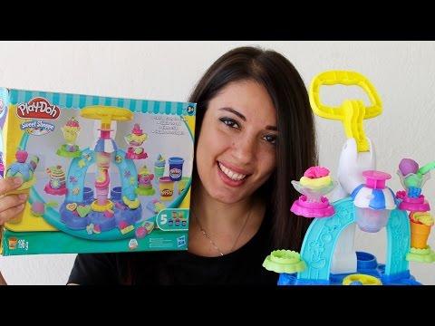 La bottega dei gelati playdoh video per bambini con apertura e prova del gioco