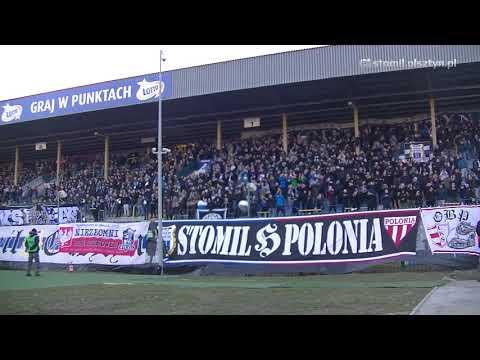 Doping kibiców Stomilu Olsztyn w meczu z GKS-em Tychy