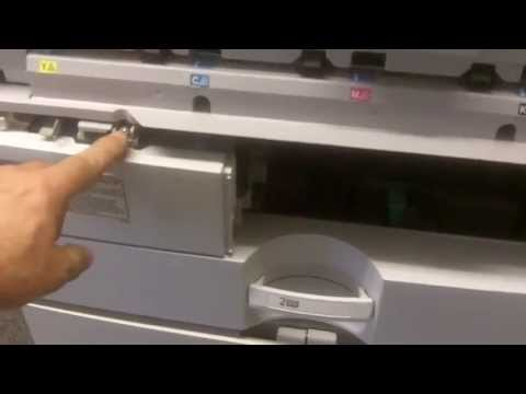 How to replace  Waste Toner Bottle on Lanier Ricoh Savin color copiers