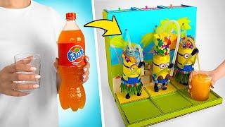 Minions-Getränkeautomat aus Pappe für deine Lieblingsbrause!