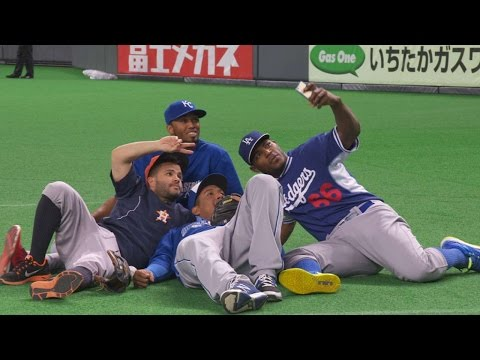 Altuve gets mic'd up for the Japan Series