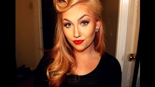 50s Pin Up Hair Tutorial: Victory Rolls