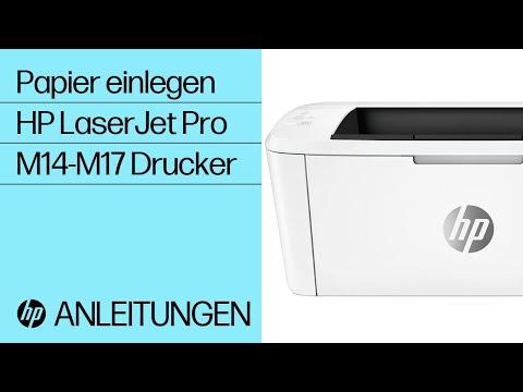 Einlegen von Papier in HP LaserJet Pro M14-M17 Drucker