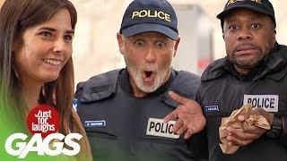 bromas Farsa superioar con policía