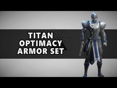 Destiny 2 Full Optimacy Armor Set Titan Gear - смотреть