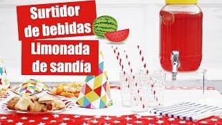 IDEAS FACILES Y BARATAS PARA FIESTAS - Surtidor Y Limonada Rosa - Cumpleaños