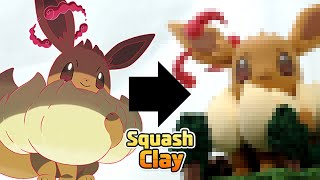 Pokémon Sword & Shield Clay Art: Gigantamax Eevee!! and Forest Clay Diorama