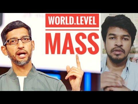 Sundar Pichai World Level Mass Now | Tamil