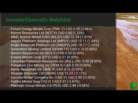 InvestorChannel's Palladium Watchlist Update for Friday, O ... Thumbnail