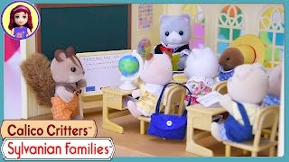 Sylvanian Families Calico Critters Country Tree School Build Review Silly Play - Kids Toys