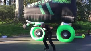 Roller skate dancing giant roller skate
