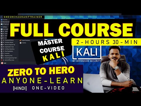 Kali Linux Full Course One Video in Hindi  ||2021|| Beginner to advanced| Become master in kali